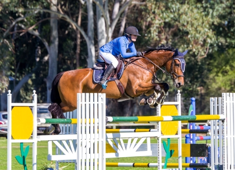 A soft rail in the third round jump off placed Chelsea McInnes & Diamond B Vigo into third place in the Patersons Plate..jpg