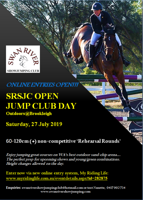 SRSJC 2019 JUMP CLUB DAY POSTER